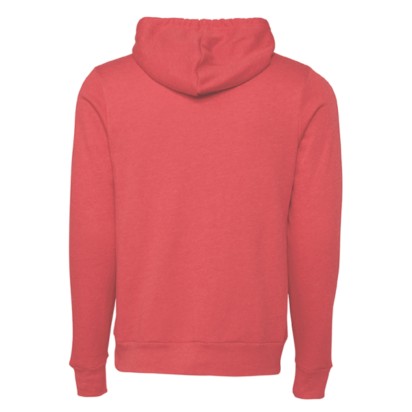 Heather Red Hooded Sweatshirt with white lake belton high school basketball back